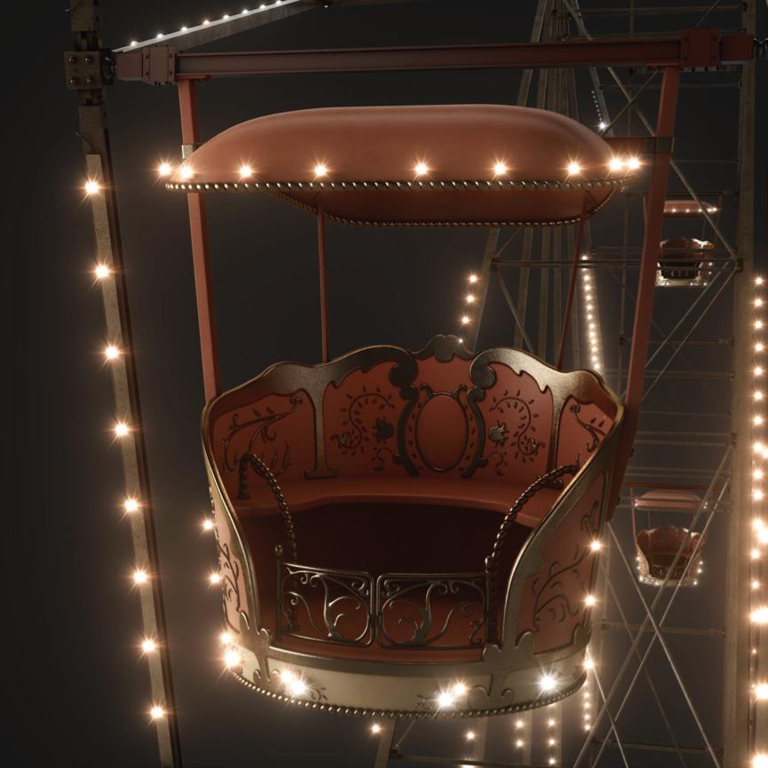 Ferris wheel, Galaxy Silkier Feel, Toufic Araman, CGI